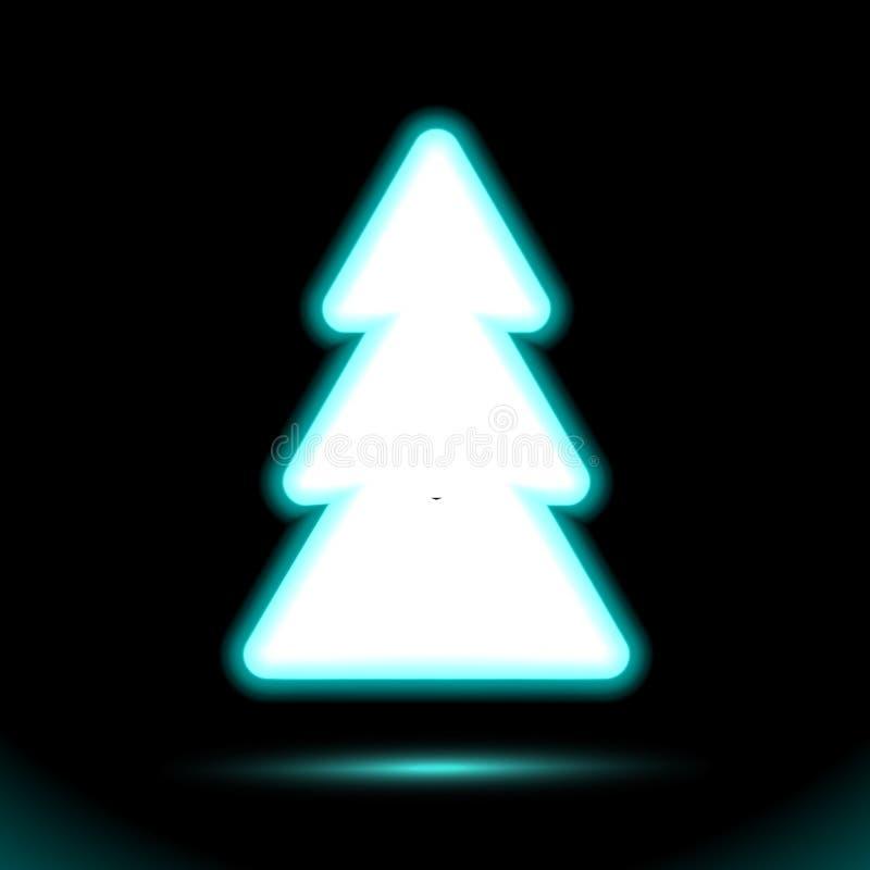 T.L.-buis van het sparren de vectorpictogram, Kerstmisknoop voor presentatieontwerp op zwarte achtergrond Modern fluorescent voor royalty-vrije illustratie