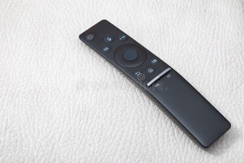 ? t?l?commande pour la TV images stock