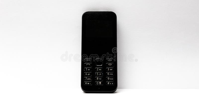 T?l?phone portable d'isolement sur le fond blanc images libres de droits