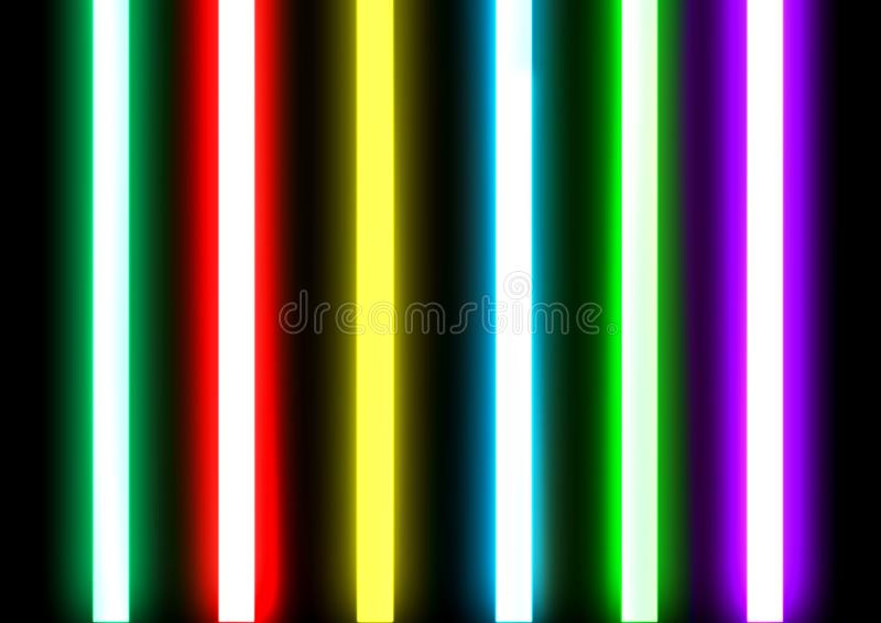 T.L.-verlichtingbuizen verzegeld glas stock afbeelding