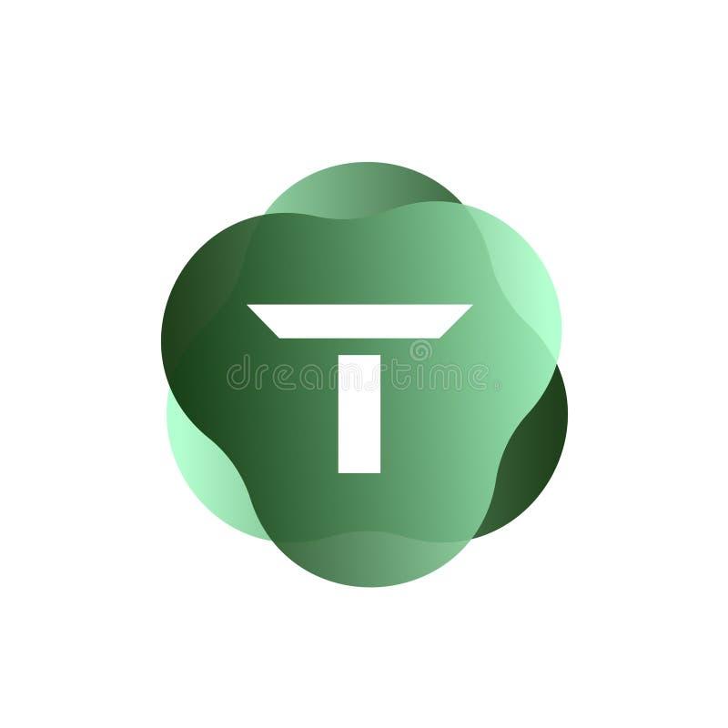 T Letter Logo stock illustration