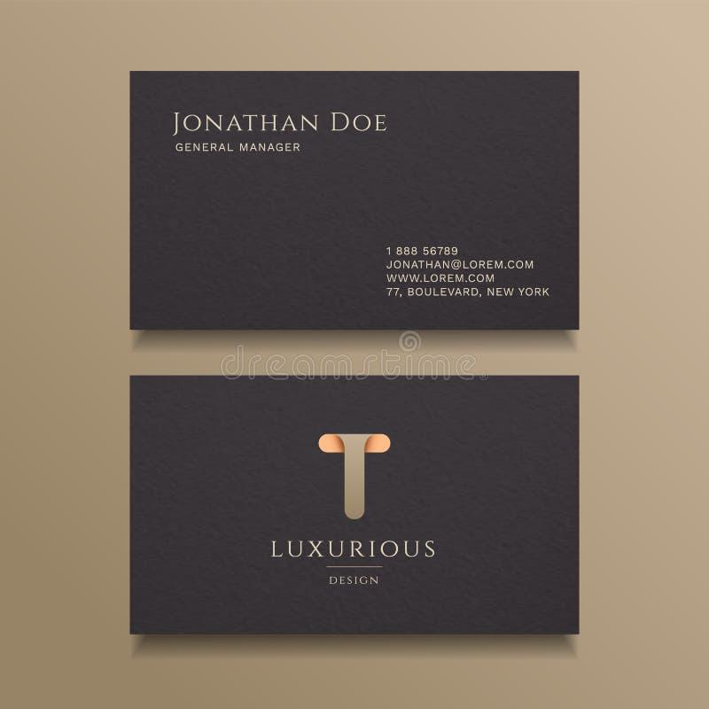 T Letter typography Alphabet logo luxury business card design template vector illustration
