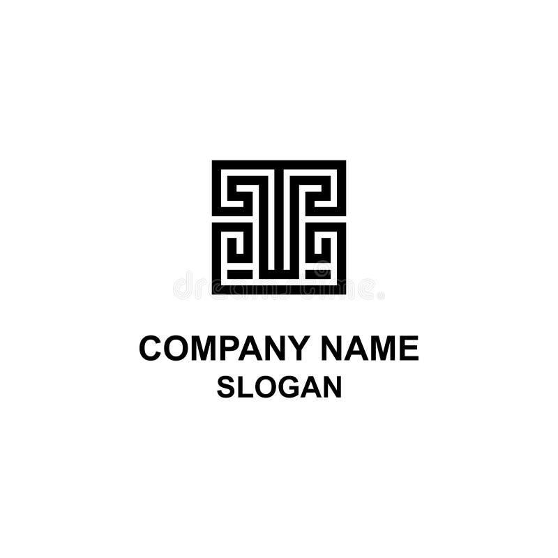 T listu ornamentu stylu Grecki logo ilustracja wektor