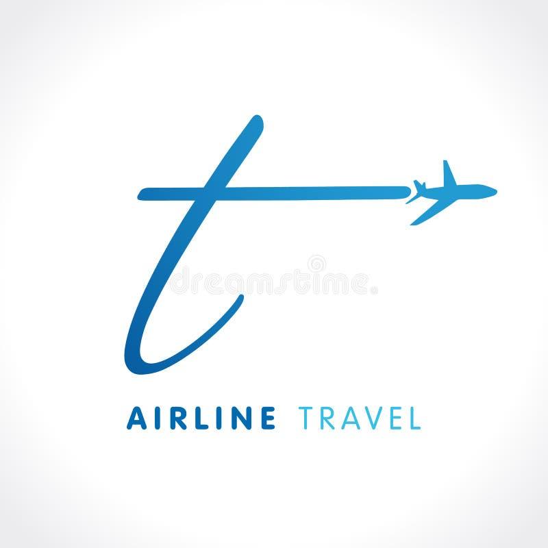 T listu transportu podróży firmy logo royalty ilustracja