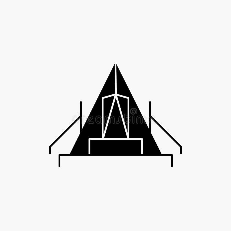 t?lt som campar, l?ger, campingplats, utomhus- sk?rasymbol Vektor isolerad illustration royaltyfri illustrationer