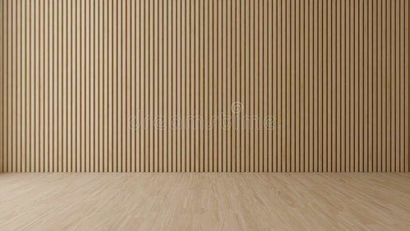 T?m rum med den wood v?ggen royaltyfri foto