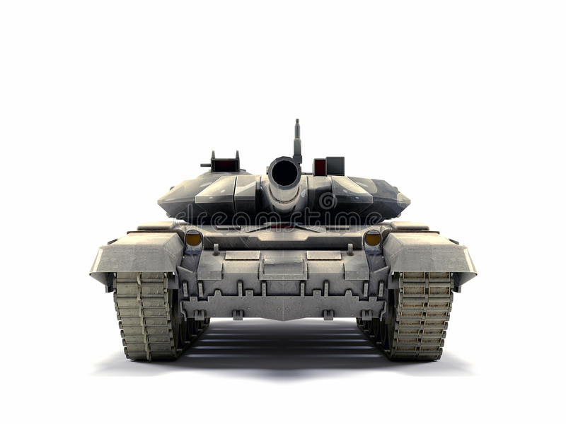 T-90 Main Battle Tank, on white background. Old battle Tank on the white background vector illustration