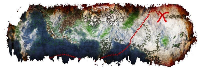 Download Tła Mapy Stary Papierowy Skarbu Wektor Obraz Stock - Ilustracja złożonej z zysk, zapominający: 53786585
