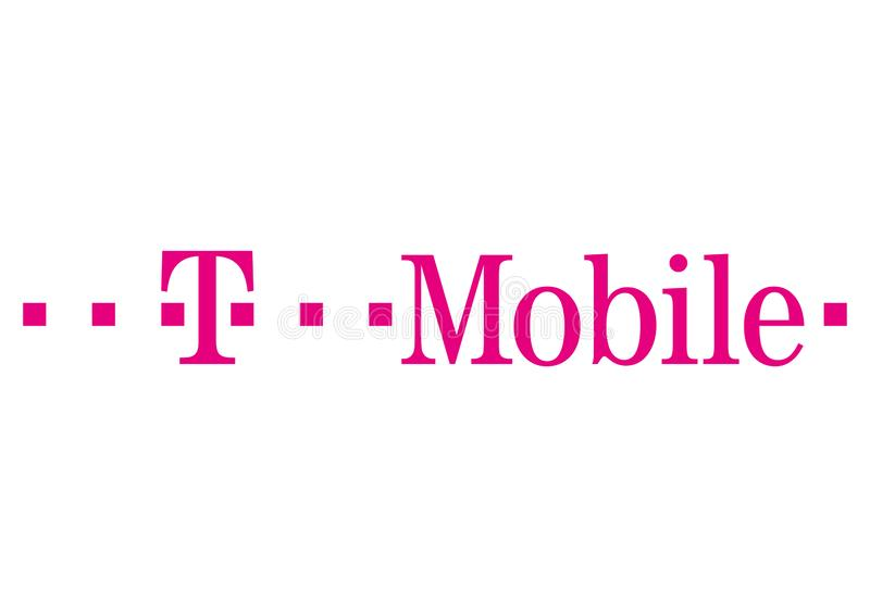 T-Mobile-embleem royalty-vrije illustratie