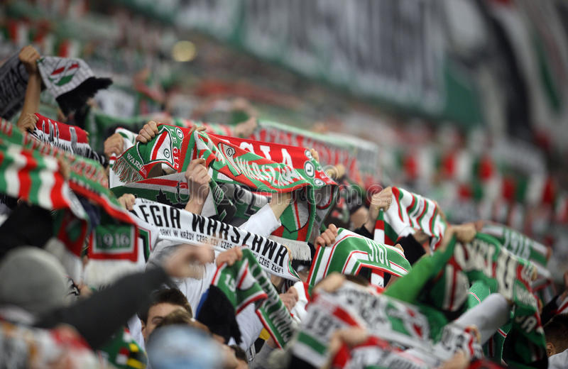 T-Mobile Extra League Legia Warsaw Ruch Chorzow. WARSAW, POLAND - FEBRUARY 28, 2016: T-Mobile Extra League Polish Premier Football League Legia Warsaw Ruch stock image