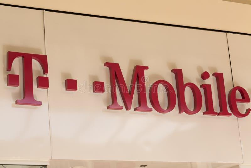 T-Mobile usa, filia T-Mobile zawody międzynarodowi AG, jest jeden cztery krajowego bezprzewodowego przewoźnika fotografia royalty free