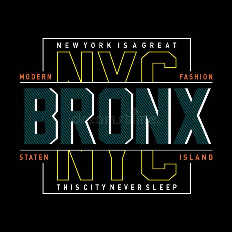 T moderno di progettazione di tipografia di New York per la maglietta illustrazione di stock