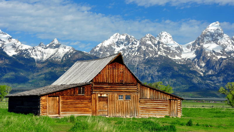 T.A. Moulton Barn and the Grand Tetons royalty free stock images