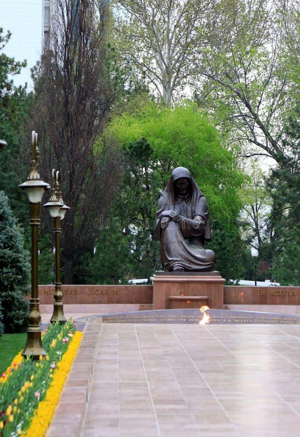 T?mulo do soldado desconhecido; Tashkent; Usbequist?o imagem de stock