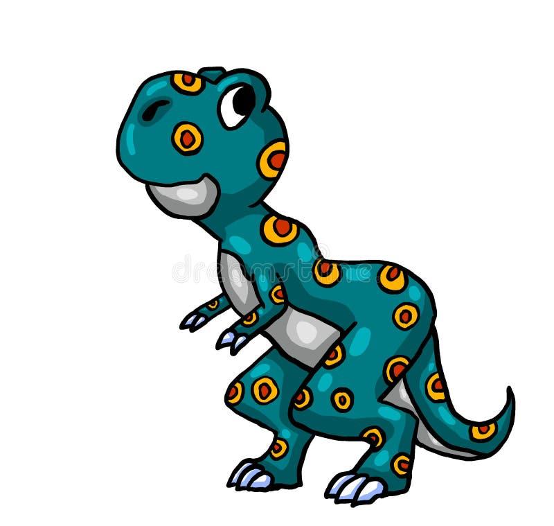T muy curioso Rex ilustración del vector