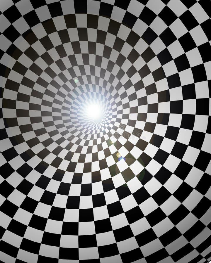 T?nel Checkered ilustração stock