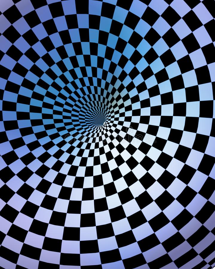 T?nel Checkered ilustração do vetor