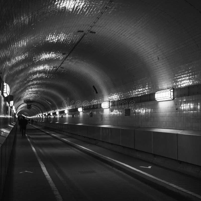 T?nel o St viejo Pauli Elbe Tunnel de Elba fotografía de archivo libre de regalías