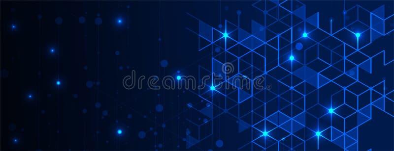 t?o abstrakcyjna technologii Futurystyczny technologia interfejs royalty ilustracja