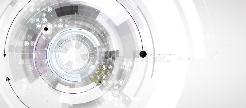 t?o abstrakcyjna technologii Futurystyczny technologia interfejs ilustracja wektor