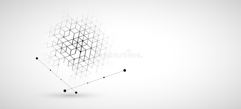 t?o abstrakcyjna technologii Futurystyczny technologia interfejs ilustracji