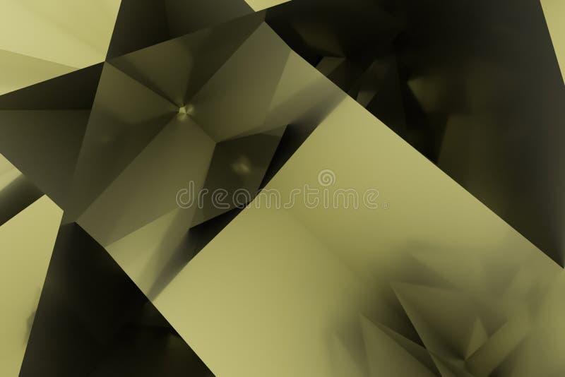 T?o abstrakta CGI, przypadkowy geometryczny t?o dla projekta, graficzny zasoby 3 d czyni? ilustracja wektor