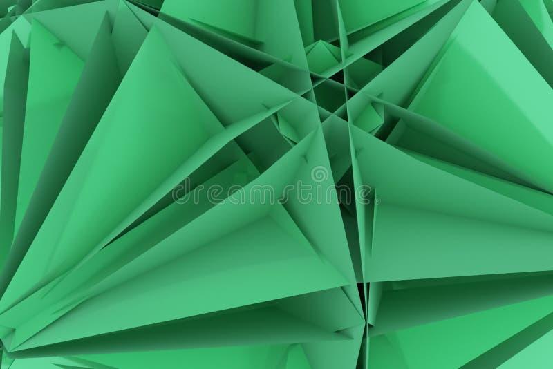 T?o abstrakta CGI, przypadkowy geometryczny t?o dla projekta, graficzny zasoby 3 d czyni? royalty ilustracja