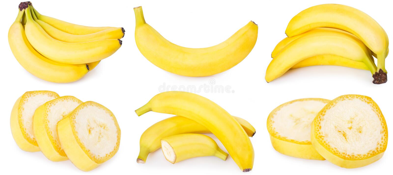 t?o biel bananowy ?wie?y zdjęcia royalty free