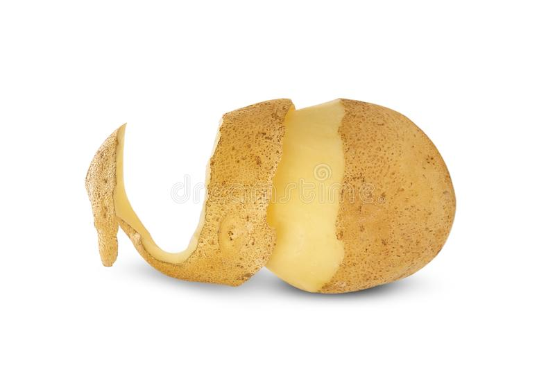 t?o biel odosobniony kartoflany obraz stock