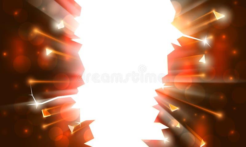 T?o dla wybuchowego przyj?cia, jaskrawa rama z iskrami Karnawa?, wakacyjny plakatowy szablon Świąteczny wybuch, iskra błysk royalty ilustracja