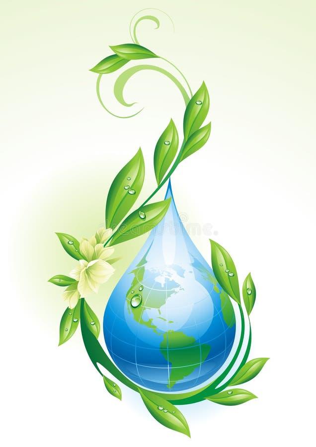 Download Tło ekologiczny ilustracja wektor. Obraz złożonej z dewar - 19625451