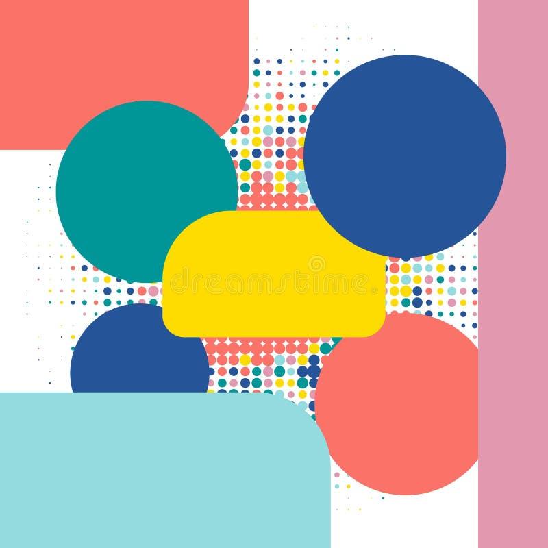 t?o geometrycznego abstrakcyjne Prosta p?aska wektorowa ilustracja Wektorowy kreatywnie wizytówka szablonu projekt dost?pna oba e ilustracja wektor
