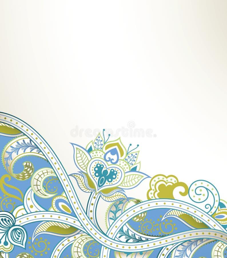 Download Tło kwiecisty abstrakcyjne ilustracji. Ilustracja złożonej z rama - 57669310