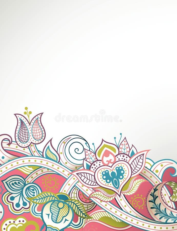 Download Tło kwiecisty abstrakcyjne ilustracji. Ilustracja złożonej z produkt - 57669401
