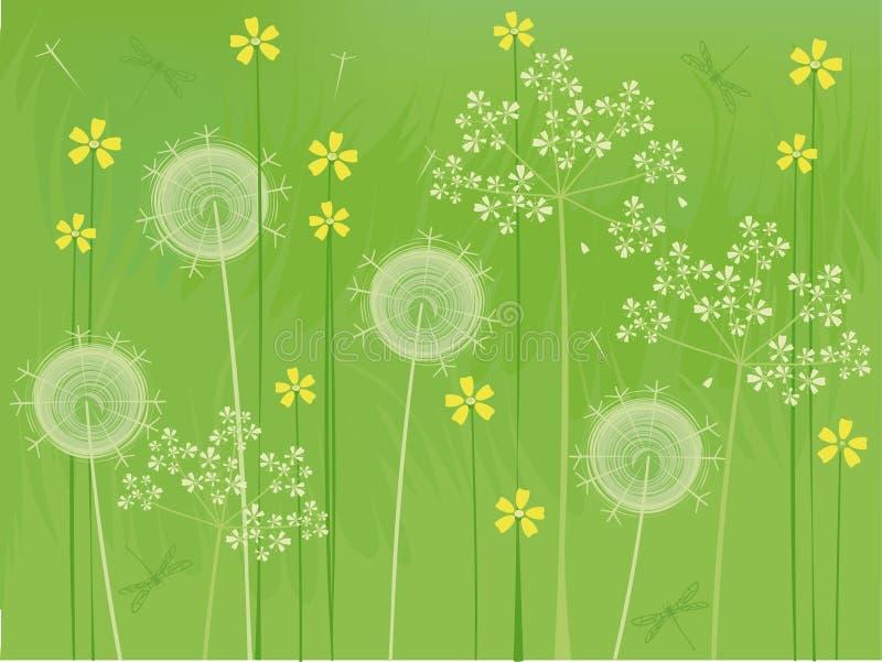 Download Tło kwitnie lato ilustracja wektor. Obraz złożonej z kwiat - 9915016