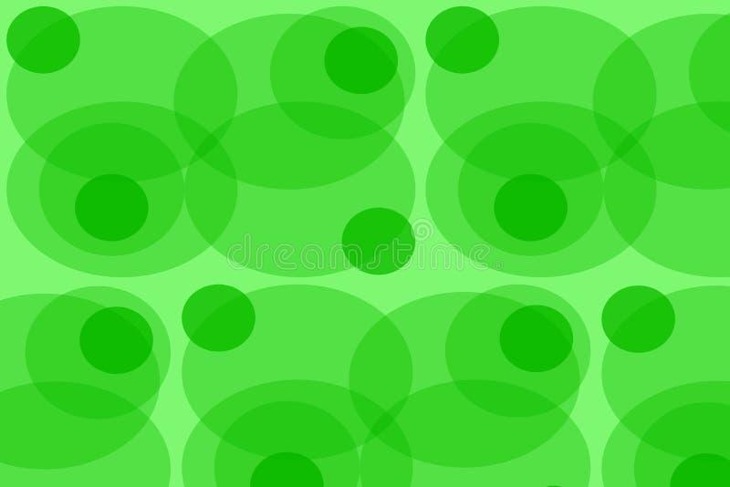 T?o owale abstrakcjonistyczny atrakcyjny bokeh green kr?g?w t?o geometryczni t?o kszta?ty royalty ilustracja