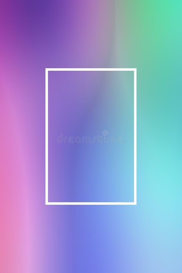 T?o plamy gradientu ramy abstrakt, szablon royalty ilustracja
