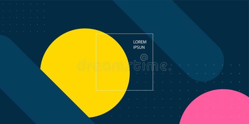 T?o Prosty Abstrakcjonistyczny Geometryczny tło w płaskim projekcie ilustracja wektor