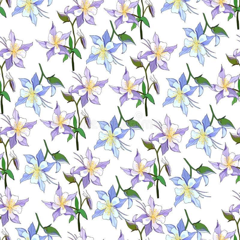 t?o wiosna kwiecista lekka Bezszwowy ?liczny wiosny, lata kwiecisty wz?r dla lub ilustracja wektor