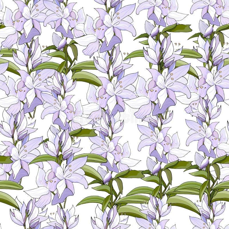 t?o wiosna kwiecista lekka Bezszwowy ?liczny wiosny, lata kwiecisty wz?r dla lub royalty ilustracja