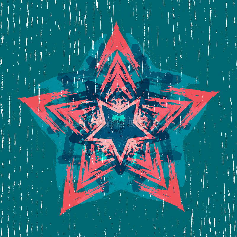 Download Tło Z Abstrakcjonistycznymi Geometrycznymi Elementami Ilustracja Wektor - Ilustracja złożonej z digitalis, futurystyczny: 57657119