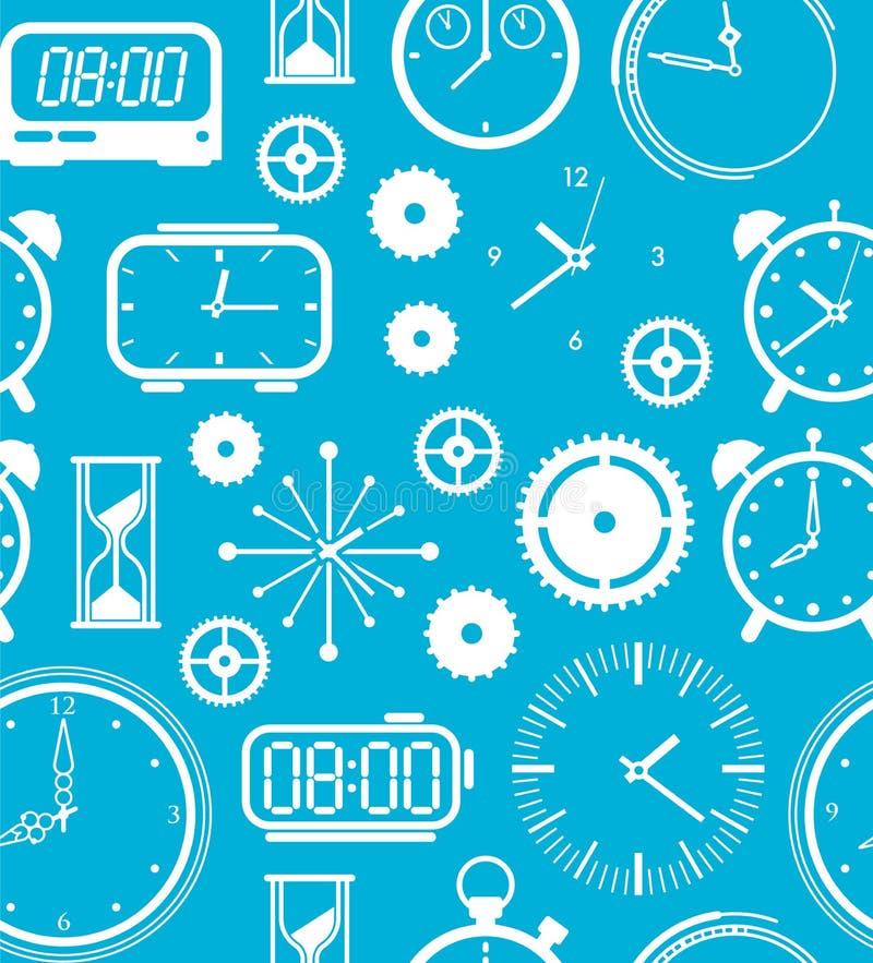 Download Tło z czasów symbolami ilustracja wektor. Ilustracja złożonej z machinalny - 57657121
