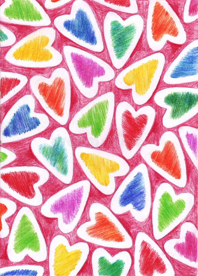 Download Tło z sercami obraz stock. Obraz złożonej z arte, wyznaczający - 28971375