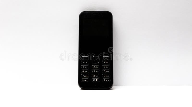 t?a odosobniony telefon kom?rkowy biel obrazy royalty free