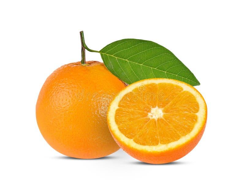 t?a owoc odosobniony pomara?czowy biel zdjęcia royalty free
