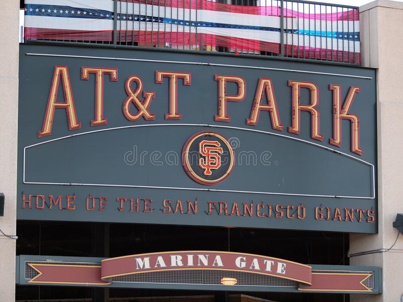AT&T Park Home Of The Giants - Sign Editorial Image