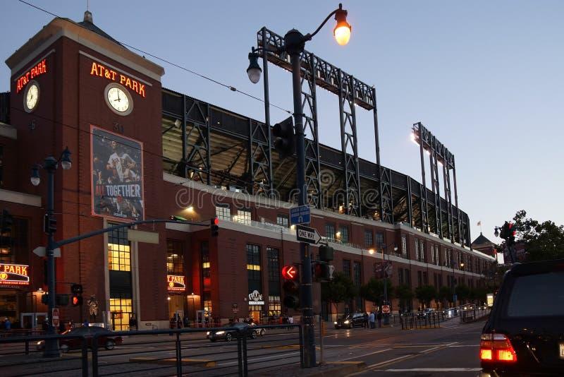 AT&T parkerar stadion i San Francisco arkivbild