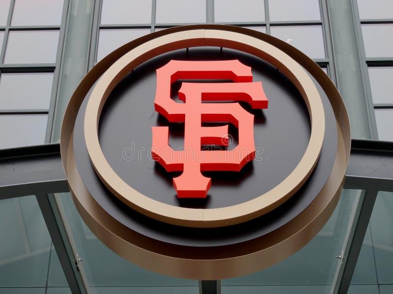 AT&T parquea - casero del Giants - el logotipo de SF imagenes de archivo