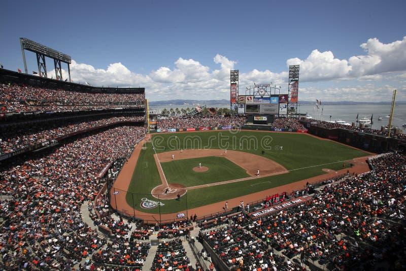 AT&T Parquea, Se Dirige Del San Francisco Giants Foto editorial