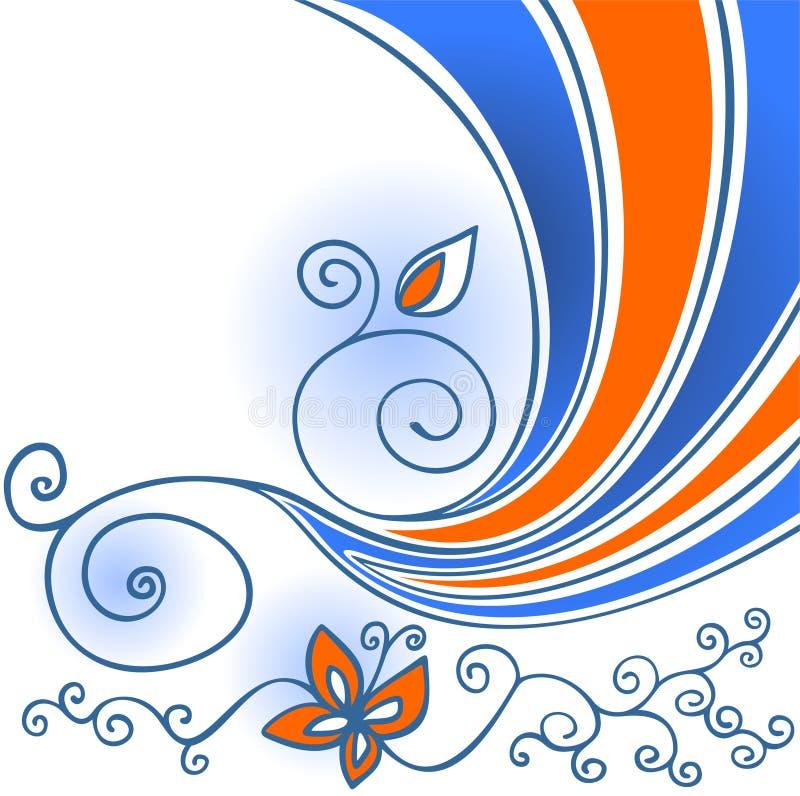 Download Tła pasiasty kwiecisty ilustracji. Ilustracja złożonej z pomarańcze - 13328447